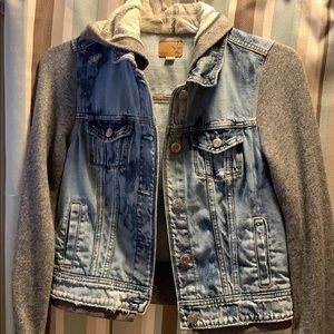 American Eagle Hooded Jean jacket.